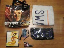 "2013 JUSTIN BIEBER ""Believe LIVE"" Concert Tour VIP Program Badge Towel Scarf Bag"