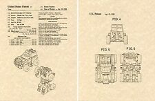 Transformers GEARS G1 US Patent Art Print READY TO FRAME Yoke 1985