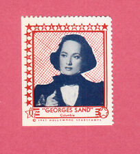 Merle Oberon Georges Sand Movie Film Star 1947 Hollywood Sticker Stamp