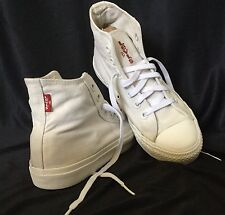 Levi's White Hightop Basketball Shoes Size 8 Footwear
