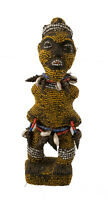 Feticcio Statuetta Africana Bamileke Perles -camerun-arte Tribale -1174