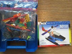 K'Nex Speed Machines 10 Model Set 150 Pcs Complete w Instructions and Case