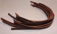 "Lace Leather - 1/4"" x 12"" - Burgundy Latigo - pack of 6 (F92)"
