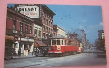 British Columbia Electric Ry # 101 at Hastings & Carrall 1949 Streetcar Postcard
