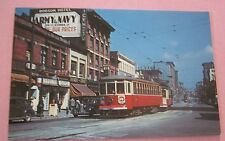 British Columbia Electric Ry # 101 at Hastings & Carrall 1949 Streetcar Postcard