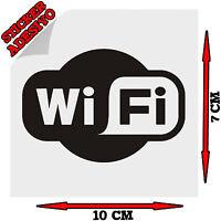 Sticker Adesivo Decal Wi Fi Zona Internet Point Bar Ristorante Pub Negozio