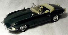 BRITISH RACING GREEN E-TYPE JAGUAR CONVERT TIN FRICTION SPORTS CAR, MINT IN BOX
