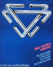 MIKE OLDFIELD 1980 AIRBORN PROMO POSTER ORIGINAL