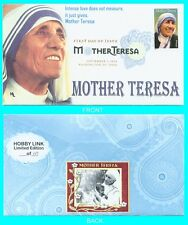 Mother Teresa First Day Cover Color Cancel