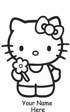 Personnalisé Autocollant Vinyle Hello Kitty Autocollant Chambre Filles