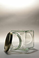 GLASS JAM JAR      -  SQUARE -    100  X   200ML -   PICKLES, CHUTNEY, PRESERVES