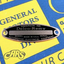1927-1955 Generator Starter ID Tag | Buick Chevy Olds Cadillac Pontiac Packard