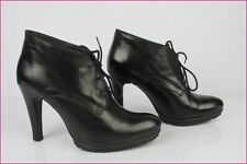 Bottines Boots à Lacets MINELLI Cuir Noir T 38 TBE