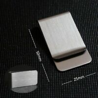 men stainless steel silver money clip wallet note card holder formal suit tie