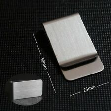 men's stainless steel silver money clip wallet note card holder formal suit tie