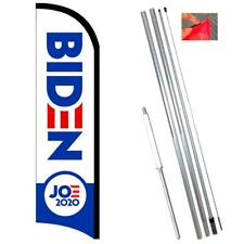 Joe Biden 2020 Premium Windless-Style Feather Flag Bundle 14' OR Replacement Fla