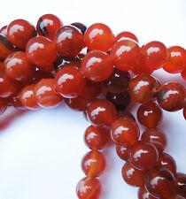 15in Rouge Agate Ronde Pierre Précieuse Perles pour fabrication de bijoux taille (mm) 10
