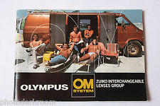 Olympus OM System Lenses Zuiko Group Sale Book Brochure - English - USED B2