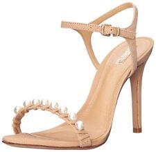 Schutz Danielle High Heels Dress Sandal, Nubuck Pale Peach SIZE 7 B