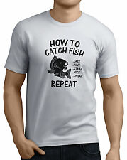 How To Catch Fish Carp Mens Funny Fishing T-Shirts Fishing Gifts 14 Colors.