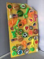 Vintage Gumball Machine Header Display Card  ,Rings , Pins, Rolling Stones K07
