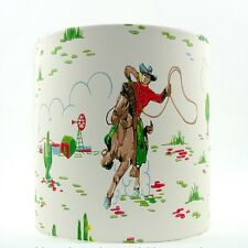 Lampshade Handmade with Cath Kidston Cowboys Cream Wallpaper 20cm