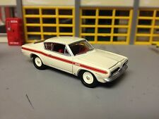 1/64  1969 Plymouth Barracuda in White with Red Int with a 340 and a 4 Speed
