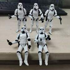 "Lot of 5pcs 3.75"" Star Wars Stormtroopers OTC Trilogy Action Fiugres with Guns"