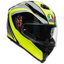 CASQUE INTÉGRAL AGV K-5 S - TYPHOON BLACK - GREY - YELLOW FLUO TAILLE M/S