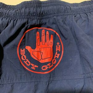 Vintage 80s Body Glove Mens Sz S Swim Trunks Shorts Drawstring