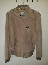 Vintage rare Genuine Leather Suede Members Only Jacket size 44 rainbow tag