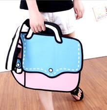 New 2D Cartoon Comic Messenger Bag Women Lady Handbags Shoulder Bag Canvas Bag