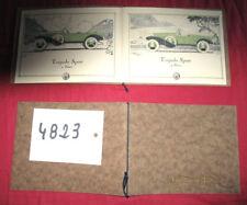 N°4823 / catalogue de la carrosserie MONTEL à Marseille : torpedo,cabriolet.....