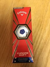 Callaway ~ Chrome Soft Truvis Stars & Stripes Golf Balls ~ 1 New 3 Ball Sleeve