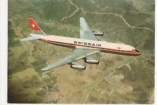 Swiss Air Douglas DC 8 Super 62 Aviation Postcard, B008
