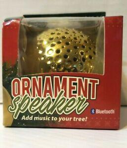 Solaray Gold Ornament Christmas Tree Decor Bluetooth Wireless Speaker USB
