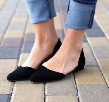 J.CREW Women's Size 6 Black Suede ZOE D'Orsay FLATS Pointy Toe Shoes