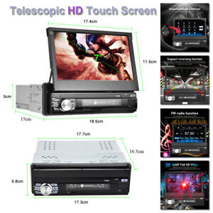 """7""""  Android 10.0 Touch Screen WiFi 1G+16G Car Stereo FM Radio GPS MP5 Player DVR"""