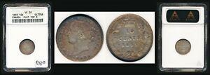 "1893 CANADA 10¢ FLAT TOP ""3"" ANACS (VERY FINE 30) SCARCE & ATTRACTIVE > NO RSRV"
