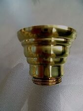 A QUALITY BRITISH MANUFACTURED 22MM BRASS OIL LAMP FONT UNDERMOUNT.