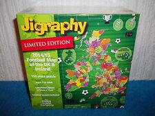 JIGRAPHY - LTD ED FOOTBALL MAP - 150 PIECE JIGSAW - 2014/5 SEASON - NEW & SEALED
