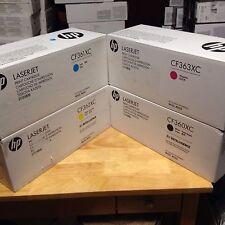 GENUINE  HP 508X M552 M553 TONER SET LOT OF CF360X CF361X CF362X CF363X