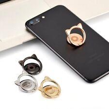 Universal Finger Grip Metal Ring Slim 360° Stand Holder For Smart Phone Tablet