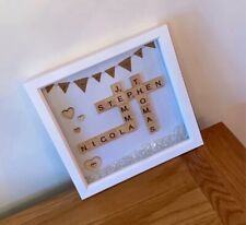 Personalised Family Scrabble Letter Box Frame With An Extra Special Touch