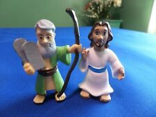 BIBLE TOYS JESUS AND MOSES FIGURES