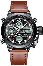 Orologio Uomo Orologi Militari Sport Impermeabile Cronografo LED Quadrante Gr...