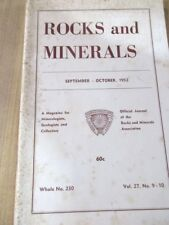 Rocks & Minerals Sept Oct 1952 Vol 27 No 9 10 Official Journal of Rks & Min Ass