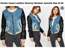 Plus Size Faux Leather Zip Coats & Jackets for Women