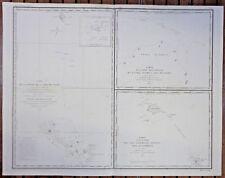 Antica mappa nautica Mar Cina Maldive Kangelang Sonda Bouganville 1828