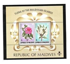 MALDIVE ISL Sc 463 NH FLOWERS S/S OF 1973